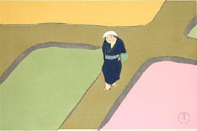 神坂雪佳 『春の田面』
