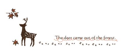 鹿の絵練習中