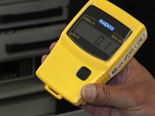 放射線量測定機器の視察(中消防署本牧和田出張所にて)