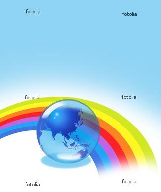 虹 エコ 地球 環境問題