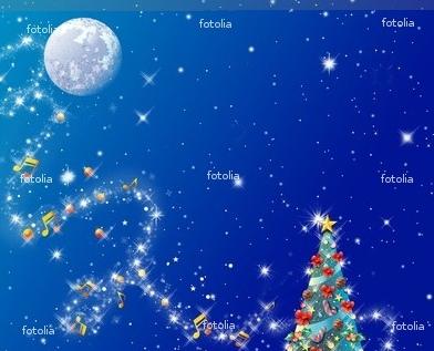クリスマスツリー月夜
