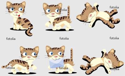 猫 キャラクター ポーズ