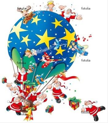 サンタクロース 気球
