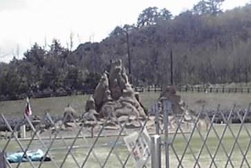 世界砂像フェスティバルの砂像のひとつ