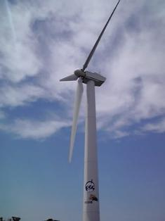 潮風の丘とまりの風車