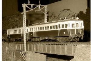鉄橋を渡る南淡電鉄1002+112