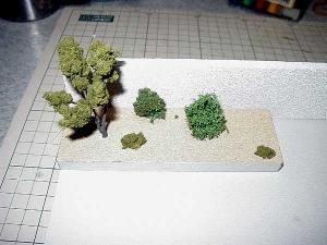 樹木を植えた花壇