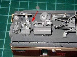 北近畿用183系、モハ484高圧配管5
