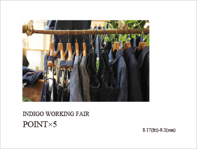 INDIGO WORKING FAIR