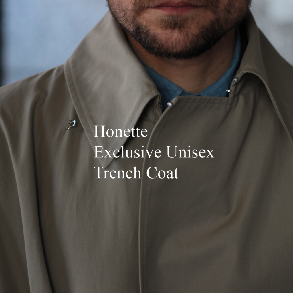HONNETE EXCLUSIVE TRENCH COAT