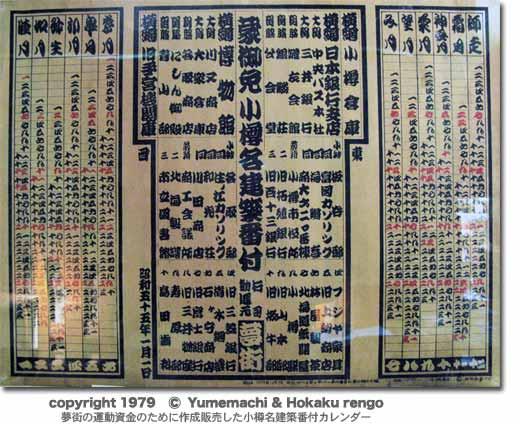 小樽名建築番付カレンダー520