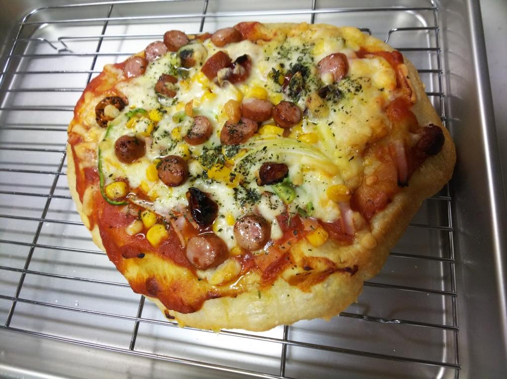 後日のピザ