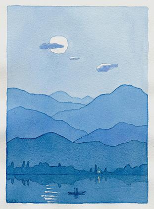 A版口絵オリジナル水彩画(©戸田勝久)
