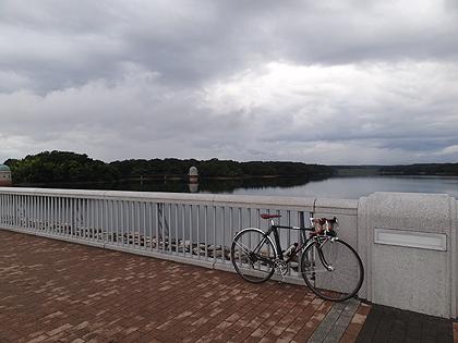 多摩湖にて