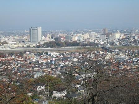 観音山から高崎市内をのぞむ