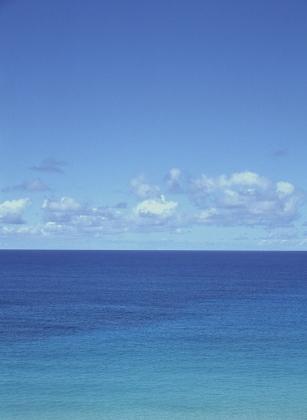 海。青い海。