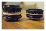 標準レンズ2本(横から)
