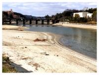 松伯美術館への橋と大渕池