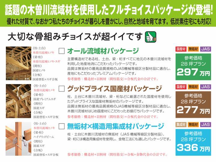 木曽川流域材「耐震博覧会フルチョイスパッケージ」