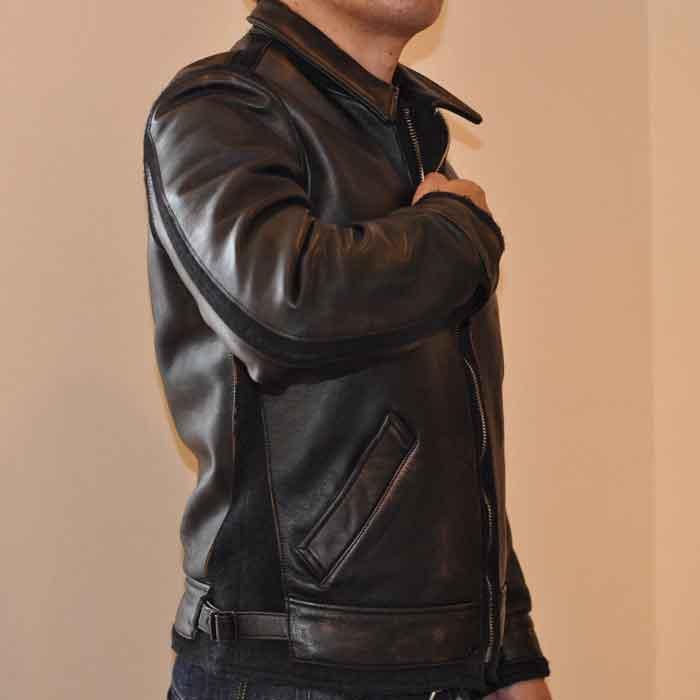 MIHARAYASUHIRO HORSE LEATHER X MELTON ドッキングブルゾン BLACK