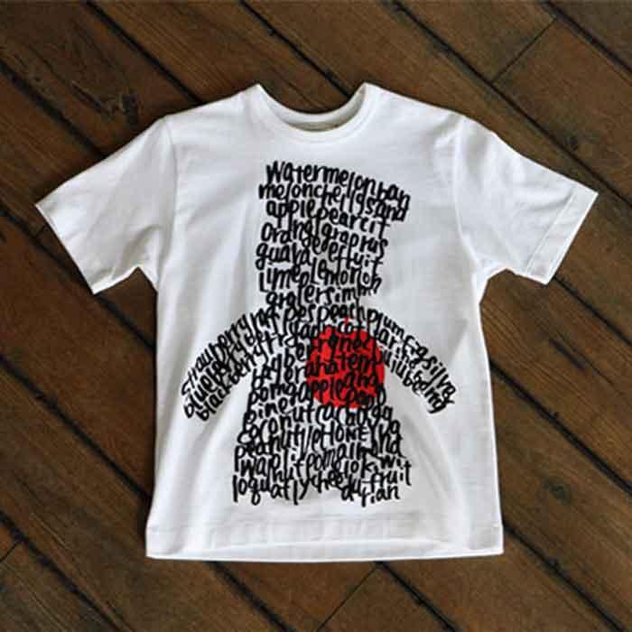 KATO`× GRANDMA MAMA DAUGHTER KUMA T-shirts White