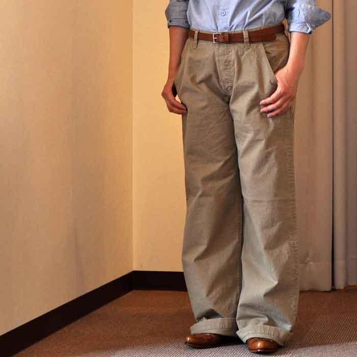 GRANDMA MAMA DAUGHTER [KATO'] FRENCH WORK PANTS BEIGE