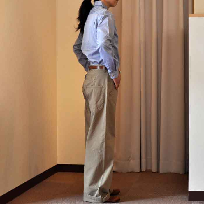 GRANDMA MAMA DAUGHTER [KATO'] FRENCH WORK PANTS BEIGE