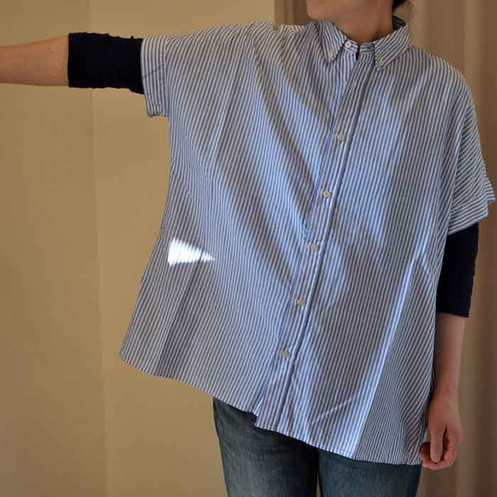 GRANDMA MAMA DAUGHTER [KATO'] DROP SHOULDER BD SHIRT LONDON STRIPE