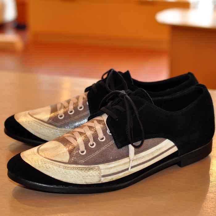 ミハラヤスヒロ sneaker print shoes BLACK