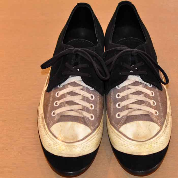 ミハラヤスヒロ sneaker print shoes BLACK