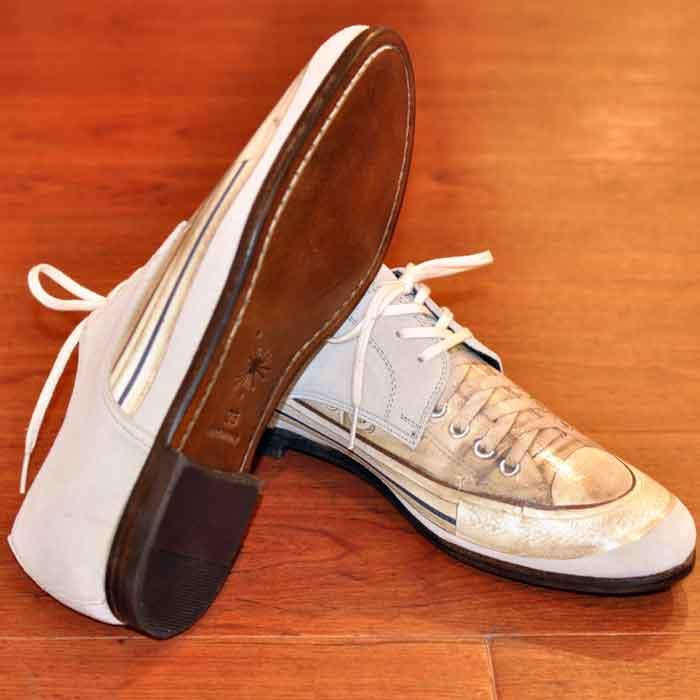 MIHARAYASUHIRO 43250600 sneaker print shoes IVORY