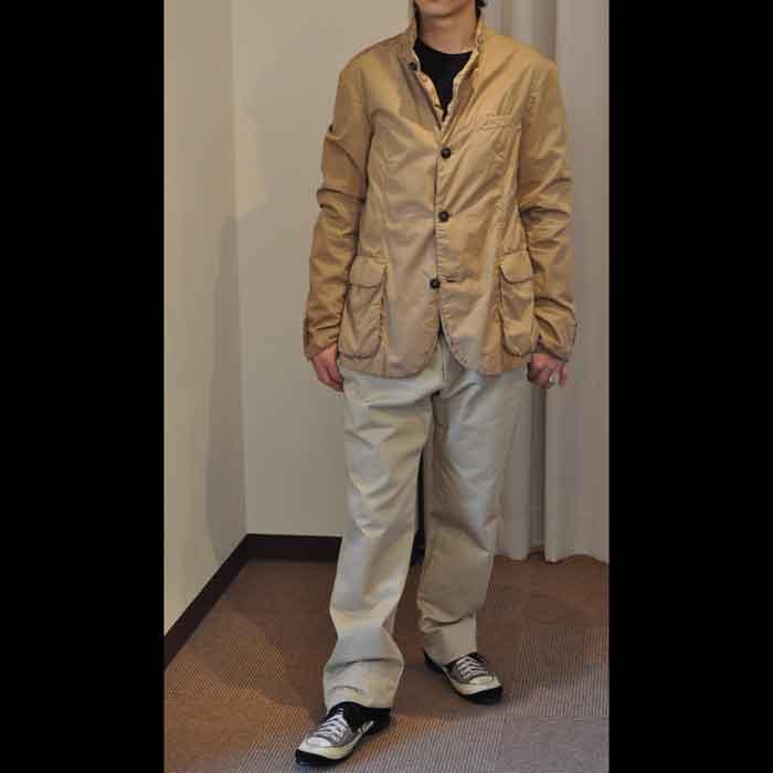 kemit [ケミット]高密度コットン製品染めジャケット khaki