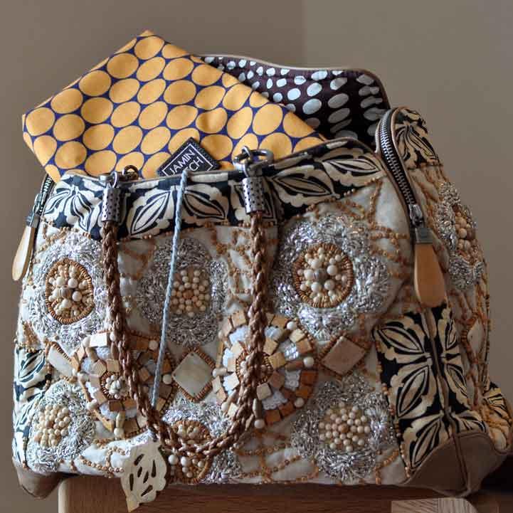 JAMIN PUECH(ジャマン・ピュエッシュ)BALTAZAR刺繍トートバッグBEIGE
