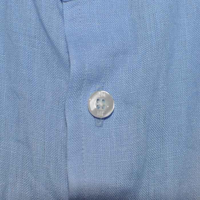 James Mortimer [ジェームスモルティマー] アイリッシュリネン レギュラーフィット L/S シャツ Blue