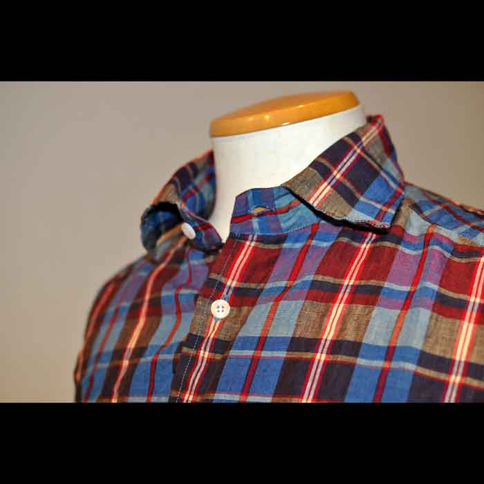 James Mortimer [ジェームスモルティマー] リネン タータンチェックシャツ
