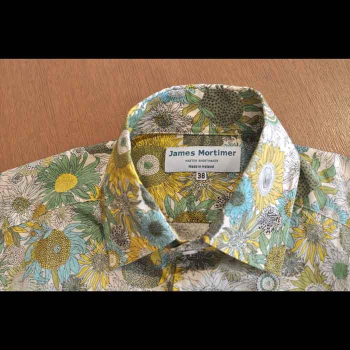 James Mortimer [ジェームスモルティマー] リバティプリントシャツS.Susanna A