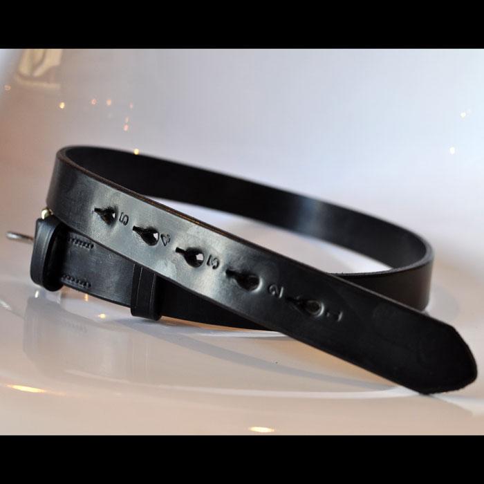 JABEZ CLIFFスティラップレザーベルト28mm black