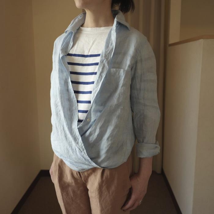 delave[デラヴェ]フレンチリネン2Wayカシュクールシャツ