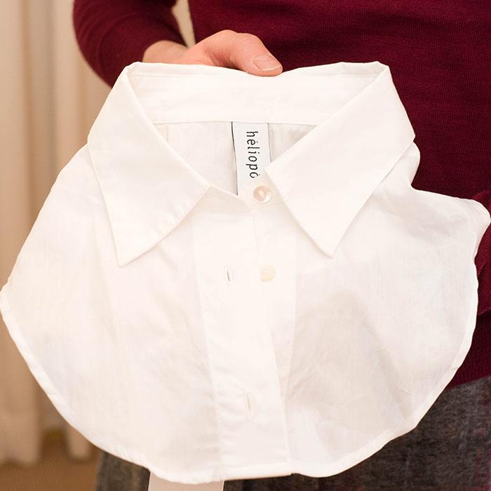 heliopole [エリオポール] 襟パーツ付きハイゲージニットプルオーバー bordeaux