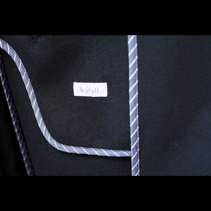 kivivit [キーヴィット] 二重織パイルメルトンラグランオーバーコートNV