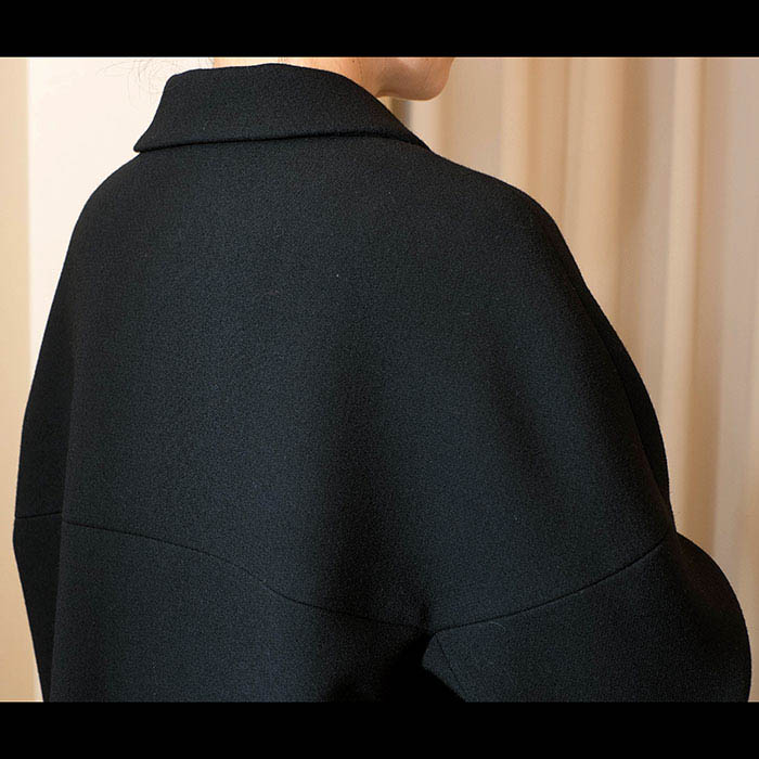 J&M DAVIDSON(ジェイアンドエムデヴィッドソン)丸襟コート