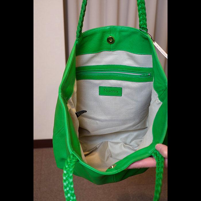 Naterra(ナテラ)レザートートバッグ green