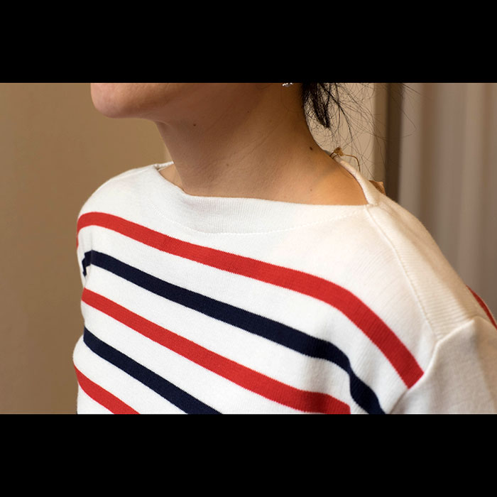 Fileuse d'Alvor [フィルーズダルボー] コットンリブバスクシャツ TRICO(トリコロール)