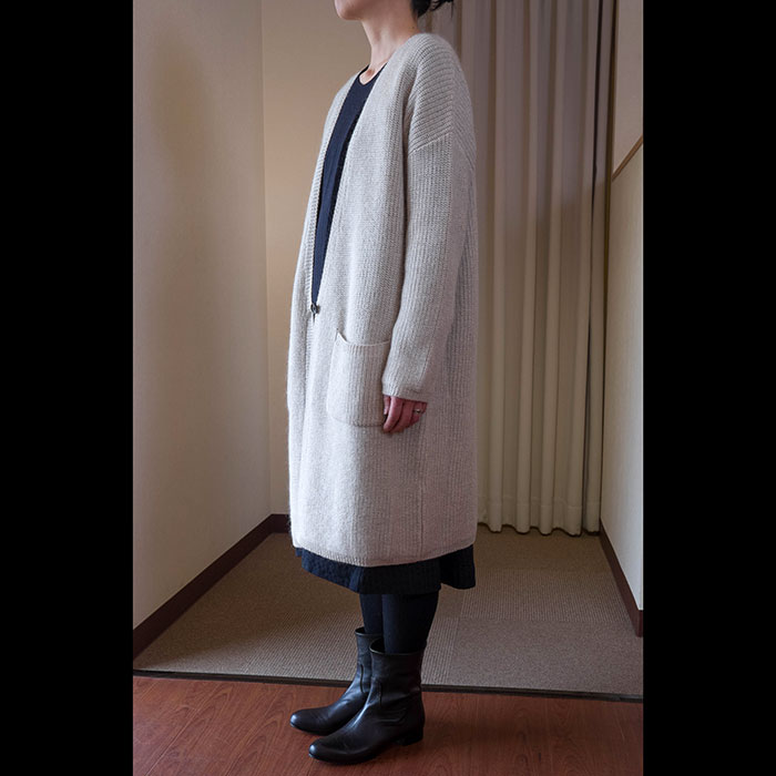 NICO.(ニコルソンアンドニコルソン)VANILLAロングカーディガンoff white