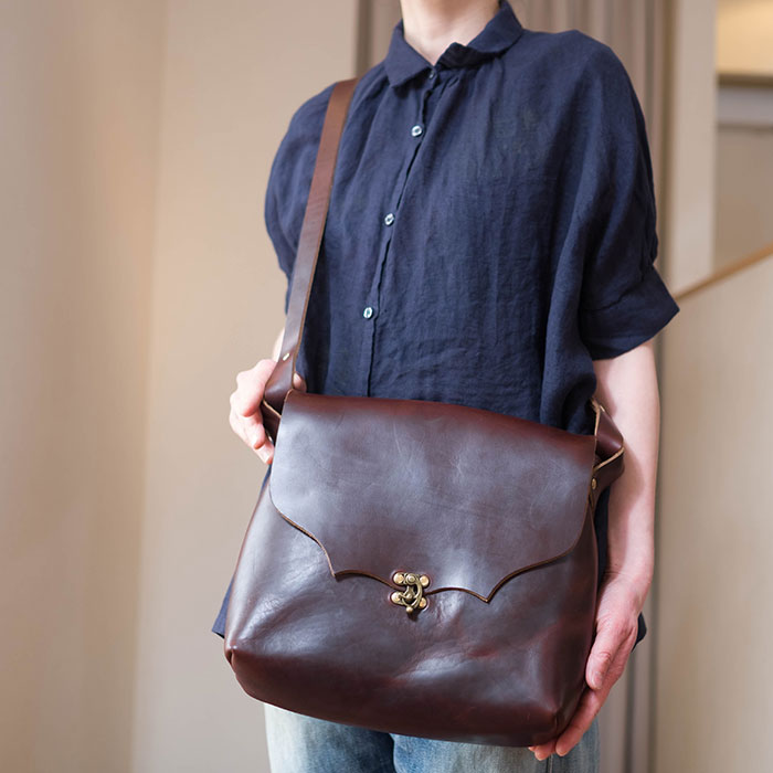 Fernand Leather( フェルナンド レザー )Milliron ML bag brown