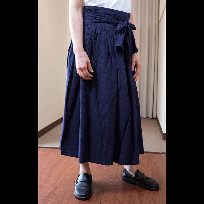 kvivit [キーヴィット] ロングギャザーラップスカート(71K4-036)NAVY