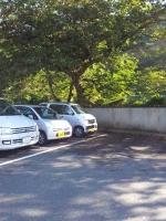 大沢温泉の駐車場