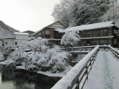 この冬二度目の雪です 曲り橋より