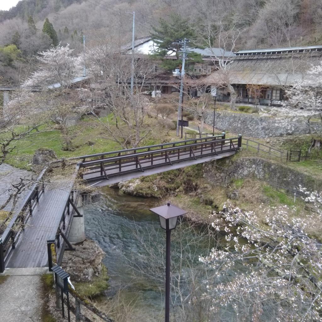 4/28 中館20号より桜をのぞむ