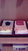 浴衣の色は男子が紫、女子がピンク